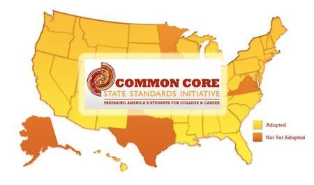 Common Core State Standards Initiative Map
